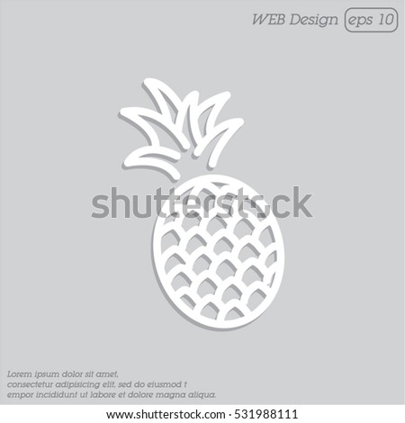 Web line icon. Pineapple