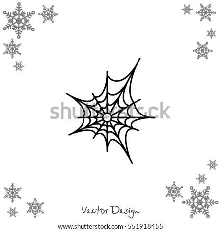 Web line icon. Spiderweb, web icon