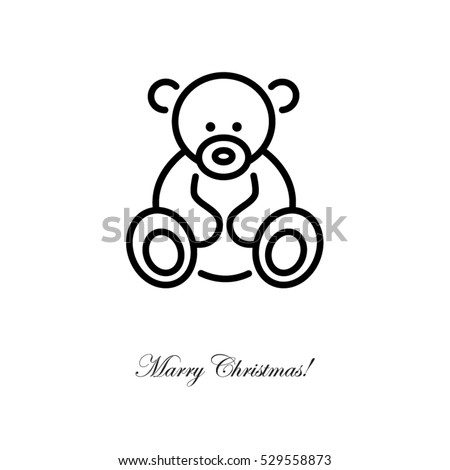 web line icon teddy bear