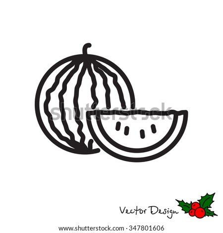 Web line icon. Watermelon #347801606