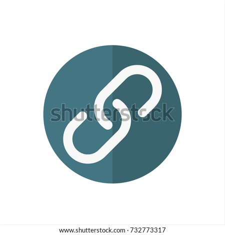 Web link Icon in trendy flat style isolated on white background. Web link icon symbol for your web site design,Web link logo, app, UI. Vector illustration, Web link icon eps10.