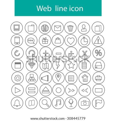 web lone thin icon vector