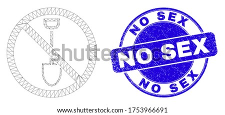 web mesh stop digging icon and