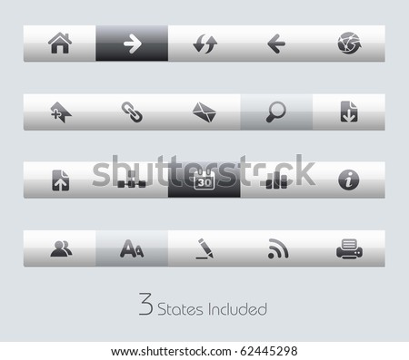 Web Navigation // Classic Series +++ It includes 3 buttons states in different layers. +++