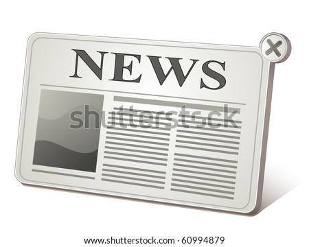 Web 2.0 newspaper icon. Web News.