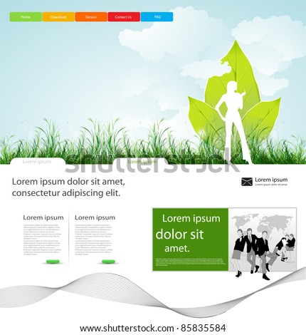 web page business layout design