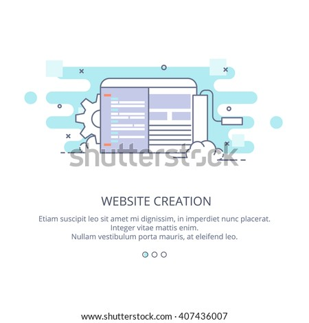 web page design template of