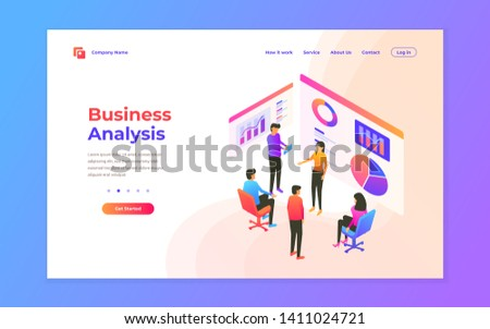 web page design templates for data analysis, digital marketing, teamwork, business strategy and analysis. Modern vector illustration concepts for website and mobile website development.