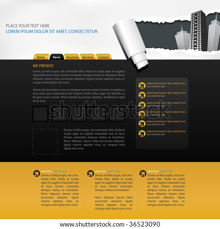 web page layout - stock vector