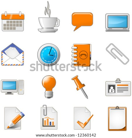 Web page or office theme icon set
