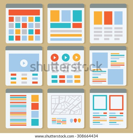 Web page,Web layout design,clean vector