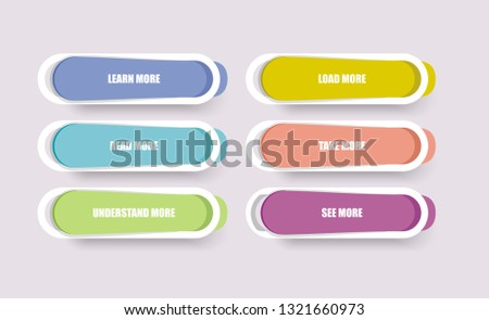 Web Panel design with color frames. Vector. #1321660973