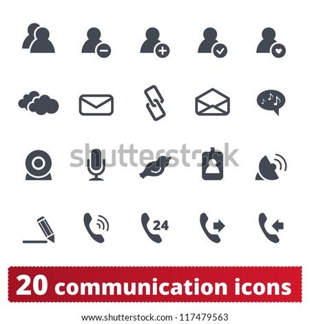 Web, phone, communication icons: internet vector set