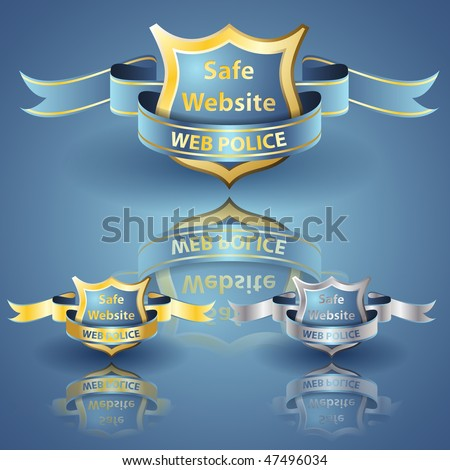 Web Police Shield eps 10 compatible - stock vector