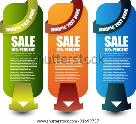 web sale banner set