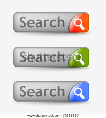 Web search bars with includes three color versions.