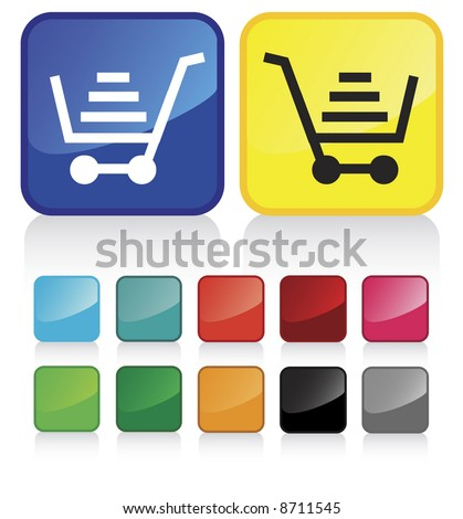 web shopping cart buttons   and