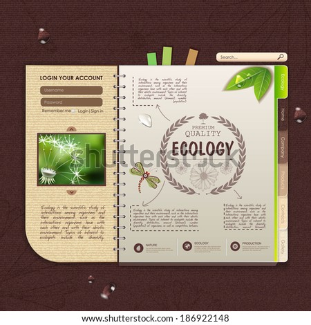 Web site design Ecology background