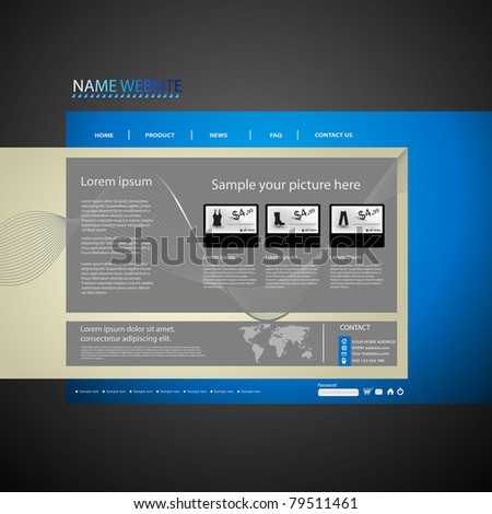 Web site design template, easy editable