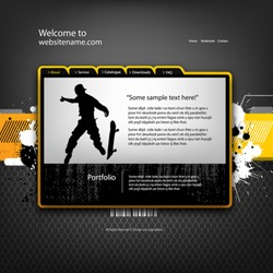 Web site design template, vector.