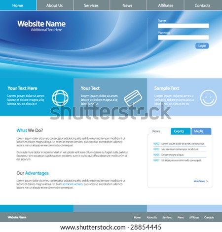 Web site design template 4, vector
