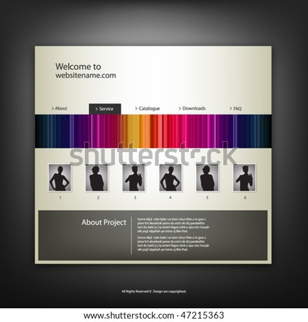 Web site design template vector.