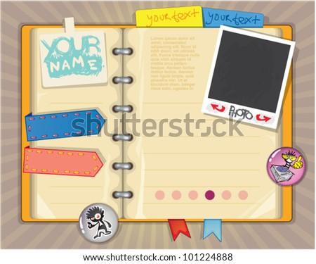 Notebook Writing Website Template - Download Free Vector Art, Stock ...