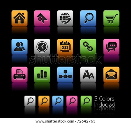 Web Site & Internet Icons // Color Box -------It includes 5 color versions for each icon in different layers ---------