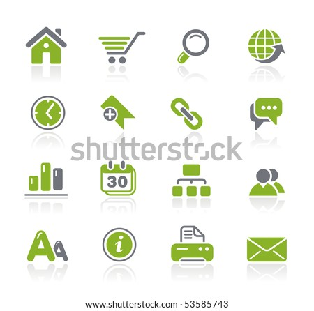 Web Site & Internet // Natura Series - stock vector