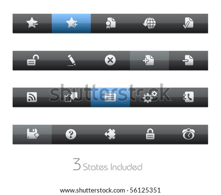 Web Site & Internet Plus // Blackbar Series +++ It includes 3 buttons states in different layers. +++