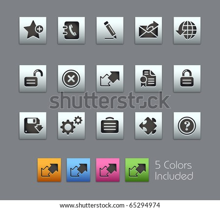 Web Site & Internet Plus // Satinbox Series -------It includes 5 color versions for each icon in different layers ---------