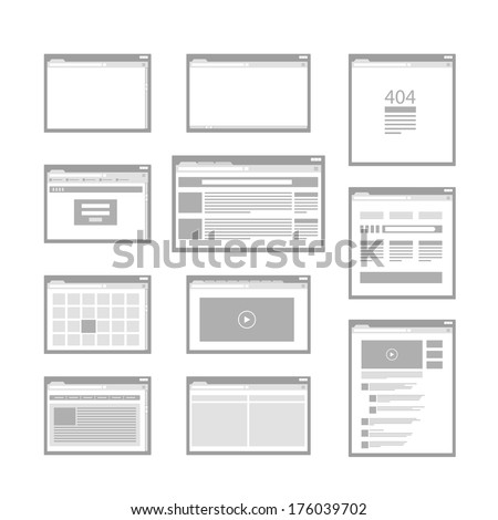 web site page templates