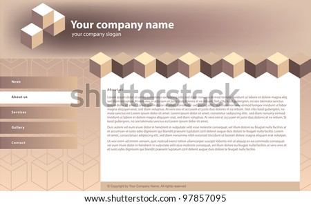 web site template  for building business - stock vector