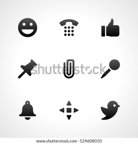 Web site vector icons set