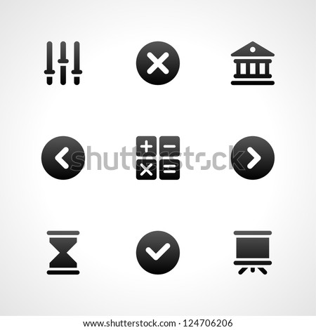 Web site vector icons set