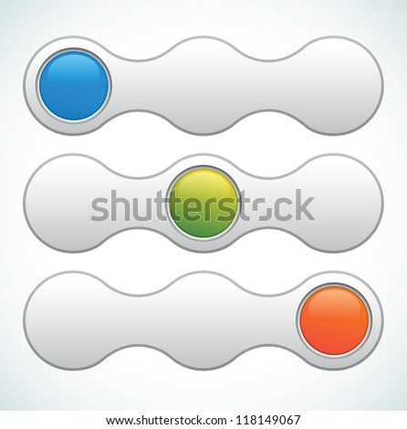 Web slider switcher - color vector illustration