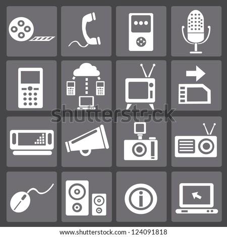Web social icons,vector