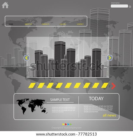 web template city vector, more visit my portfolio