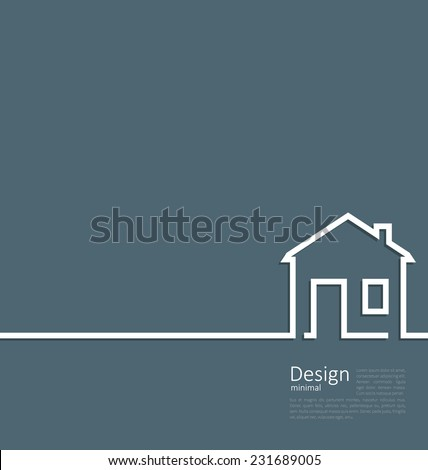 web template house logo in