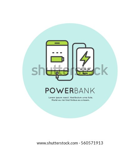 web template power bank battery