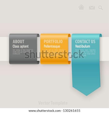 Web template. Vector illustration.