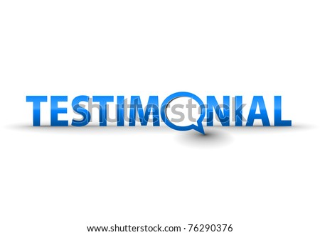web testimonial icon design element.