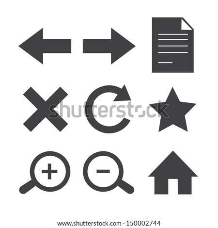 Web toolbar icons.Vector EPS10