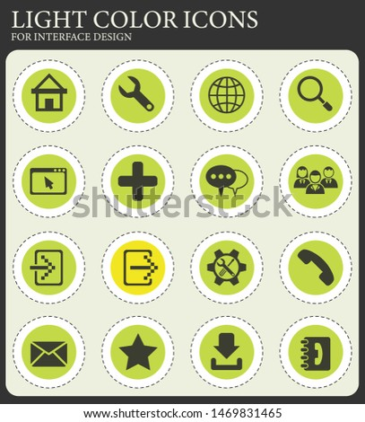 web tools web icons for user interface design