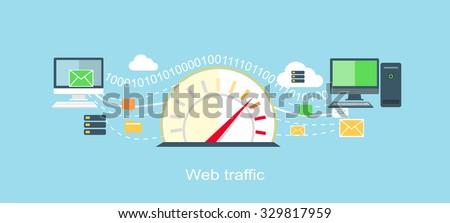 web traffic internet icon flat