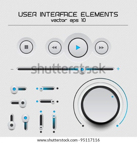 Web user interface design elements. vector eps 10