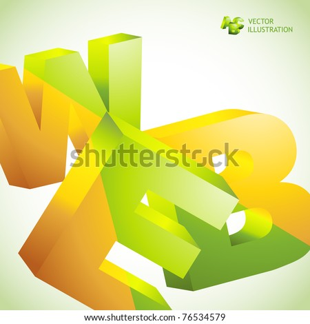 WEB. Vector 3d illustration. Abstract background.