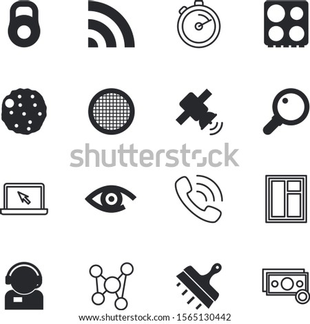 web vector icon set such as: knife, magnifying, summer, wi-fi, gym, shape, eye, old, structure, measurement, currency, putty, banking, finance, container, paper, profit, agent, domestic, sieve