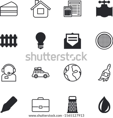 web vector icon set such as