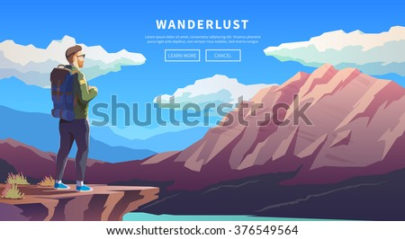 web vector  illustration on the